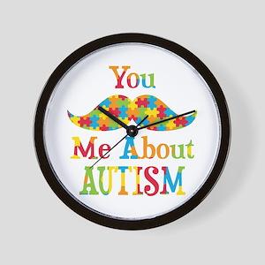 Mustache Autism Wall Clock