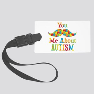 Mustache Autism Large Luggage Tag