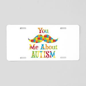Mustache Autism Aluminum License Plate