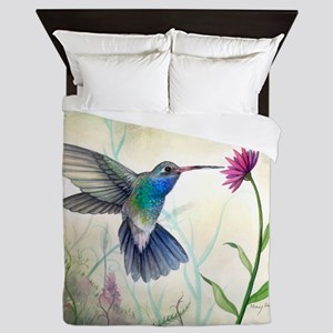 Sweet Nectar Hummingbird Queen Duvet