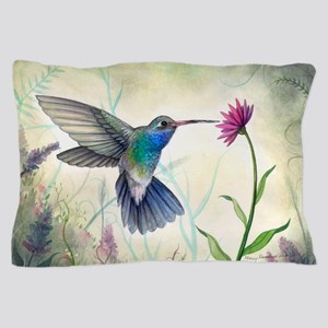 Sweet Nectar Hummingbird Pillow Case