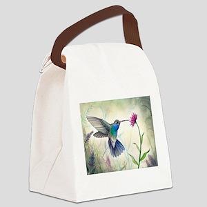 Sweet Nectar Hummingbird Canvas Lunch Bag