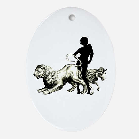 March Girl  Oval Ornament