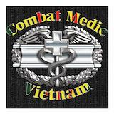 Army combat medic Square Car Magnets