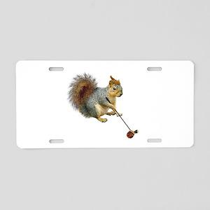 Squirrel Acorn Golf Aluminum License Plate