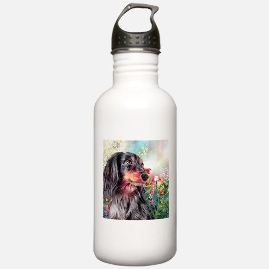 Dachshund Painting Water Bottle