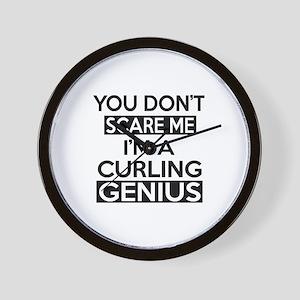 I Am Curling Genius Wall Clock