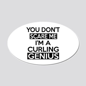 I Am Curling Genius 20x12 Oval Wall Decal