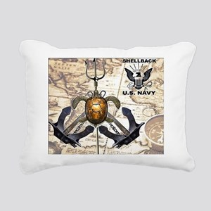 US Navy Shellback Rectangular Canvas Pillow