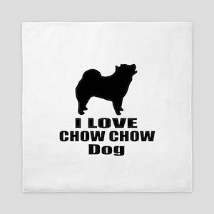 I Love Chow Chow Dog Queen Duvet