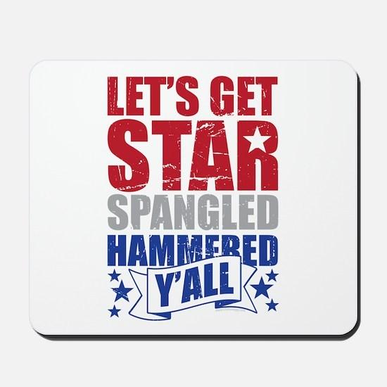 Lets Get Star Spangled Hammered Yall VINTAGE Mouse