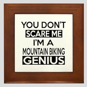 I Am Mountain Biking Genius Framed Tile