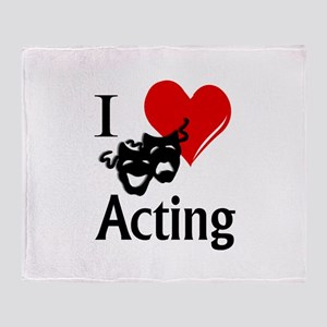 I Heart Acting Throw Blanket