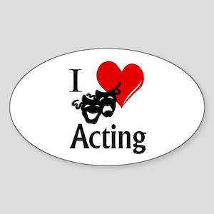 I Heart Acting Sticker