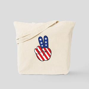Peace USA Flag-01 Tote Bag