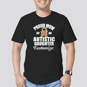 Autism Mom Men's Fitted T-Shirt (dark)
