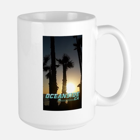 Oceanside sunset Mugs