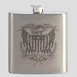 Back To Back World War Champs USA Flask
