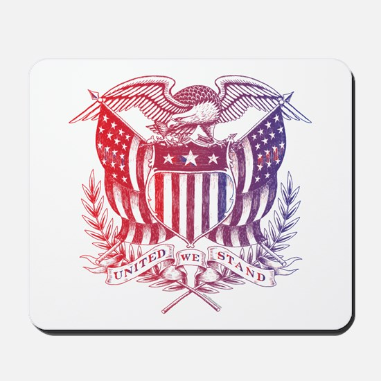 United We Stand USA 4th of July-01 Mousepad
