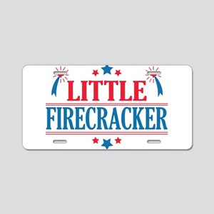 4th of July, Little Firecracker Aluminum License P