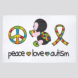 Peace Love Autism 4' x 6' Rug
