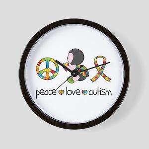 Peace Love Autism Wall Clock