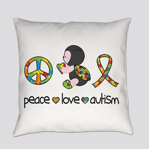 Peace Love Autism Everyday Pillow