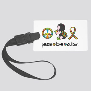 Peace Love Autism Large Luggage Tag
