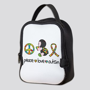 Peace Love Autism Neoprene Lunch Bag