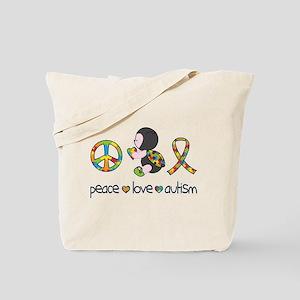 Peace Love Autism Tote Bag