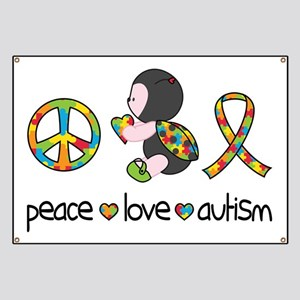 Peace Love Autism Banner