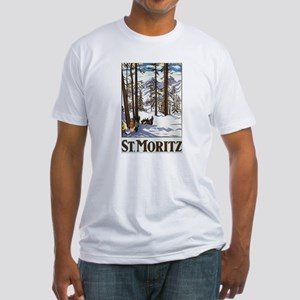 Switzerland Skiing Fitted T-Shirt