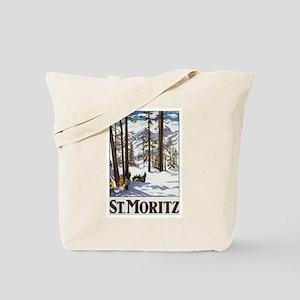 Switzerland Skiing Tote Bag