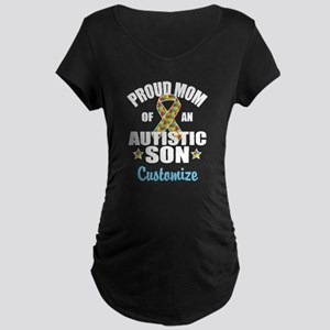 Autism Mom Maternity Dark T-Shirt