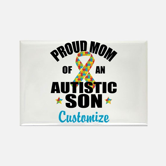 Autism Mom Rectangle Magnet
