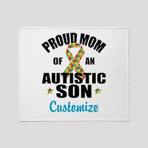 Autism Mom Throw Blanket