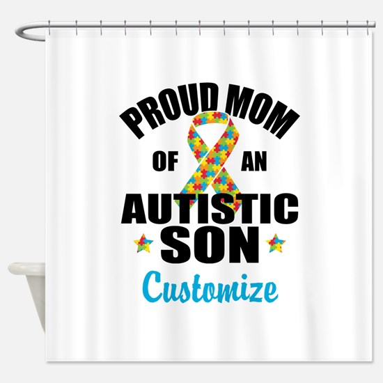 Autism Mom Shower Curtain