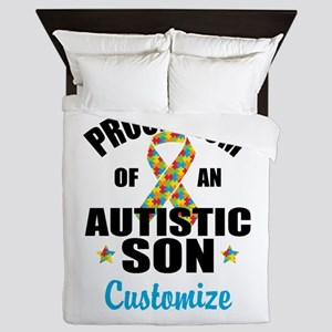 Autism Mom Queen Duvet