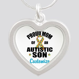 Autism Mom Silver Heart Necklace