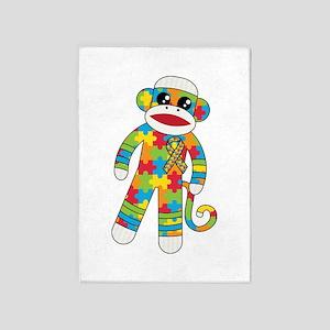 Autism Monkey 5'x7'Area Rug