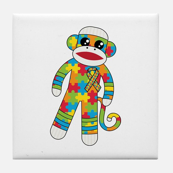 Autism Monkey Tile Coaster