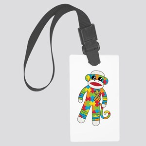 Autism Monkey Large Luggage Tag