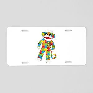 Autism Monkey Aluminum License Plate