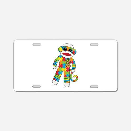 Autism Monkey Aluminum License Plate
