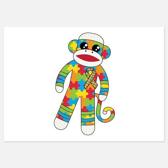 Autism Monkey Invitations