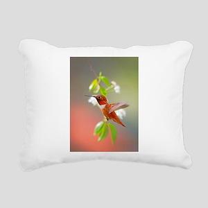 Rufous Hummingbird Rectangular Canvas Pillow