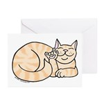 Orange Tabby ASL Kitty Greeting Cards (Pk of 20)