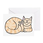 Orange Tabby ASL Kitty Greeting Card