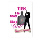 Shoot Like A Girl Postcards (Package of 8)
