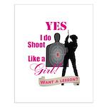 Shoot Like A Girl Small Poster